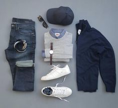 men's fashion style outfit and outfit grids inspirations style grid for men fashion for men Fashion Mode, Look Fashion, Daily Fashion, Paris Fashion, Runway Fashion, Womens Fashion, Girl Fashion, Mode Masculine, Casual Wear