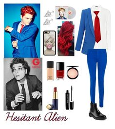 """""""Hesitant Alien, Gerard Way"""" by justkittyfanggyg ❤ liked on Polyvore featuring J Brand, Prada, Estée Lauder, Marc Jacobs, MAC Cosmetics, Chanel, Edge of Ember, outfit, mcr and gerardway"""