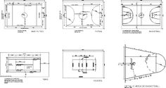 Multi canchas en DIBUJO DE AUTOCAD | BiblioCAD Autocad, Cala, Ronaldo, Graffiti, Mario, Floor Plans, Diagram, Fields, Projects