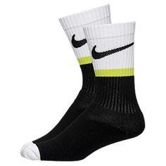 Golf Socks, Crew Socks, Calf Compression, Elite Socks, Nike Men, Calves, Underwear, Black And White, Classic