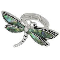 Abalone Dragonfly Ring at The Animal Rescue Site