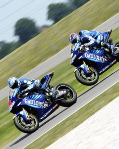 Barros leads Gauloises Yamaha team-mate Jacque at Assen first qualifying.