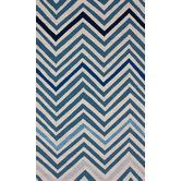 Found it at AllModern - Trellis Blue Chevron Rug