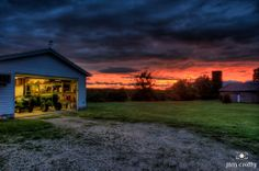 Summer sunset on the farm fine art landscape photography by Jim Crotty of Raptor Ridge farm near Beavercreek Ohio