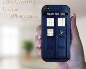 TARDIS Rubber iPhone Case iPhone 4, iPhone 4 case, iPhone 4S case, iPhone cover, iPhone4 cover Doctor Who. $18.95, via Etsy.