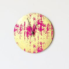 Hey, I found this really awesome Etsy listing at https://www.etsy.com/listing/228951939/unique-wall-clock-pink-and-gold-clock