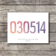 Watercolor Wedding Save the Date Postcard - Customizable - Digital Ready to Print on Etsy, $20.00