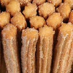 Churros I Recipe Desserts with hot water, biscuit mix, vegetable oil, white sugar, ground cinnamon