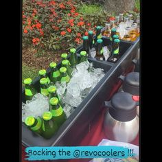 Patio Cooler, Bar Station, Ice Buckets, Service Ideas, Bridal Shower, Baby Shower, Mimosa Bar, Food Displays, Catering Ideas
