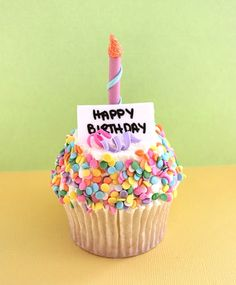 great birthday cupcake...