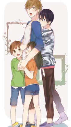 MakoHaru and the Tachibana's Twins