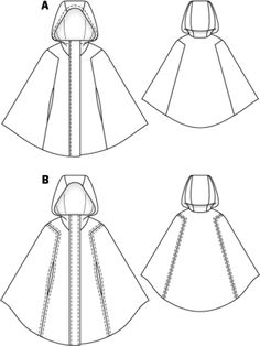 Hooded cape pattern