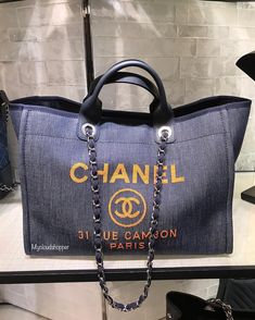e9718c11056e Chanel Deauville denim tote in Med. Just stunning!. DM to purchase  shopping