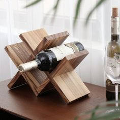 Wine Rack Bar, Wine Rack Storage, Wood Wine Racks, Wine Bottle Holders, Wooden Wine Holder, Wine Rack Plans, Bar Accessories, Diy Chair, Wood Design