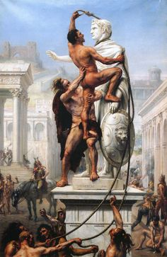 Sack of Rome by Visigoths, 410 C.E., painting by Joseph-Noël Sylvestre