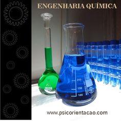 ENGENHARIA QUÍMICA – Desenvolvimento de processos industriais que empregam transformações físico-químicas. Atuação: Desenvolvimento, meio ambiente, processo industrial, projetos