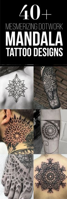 40 + diseños Mesmerizing Dotwork Mandala del tatuaje | TattooBlend