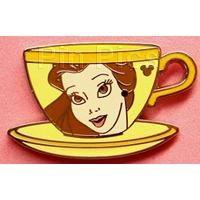 (N) Pin 71377 Hidden Mickey Mystery Pouch - Princess Tea Cups (Belle)  2009 Hidden Mickey Series- November 2 of 6