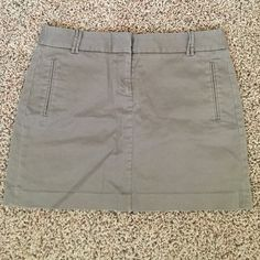 J crew tan skirt Size 8 tan skirt. Worn a handful of times. Great condition. J. Crew Skirts