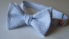 Carolina Blue Seersucker Bow Tie!  This would look great on Game Day!