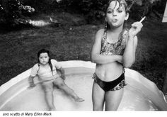 Amanda and her cousin Amy by Mary Ellen Mark North Carolina, USA, 1990