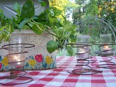 old rusty bed springs & jelly jars... by tinalee56, via Flickr