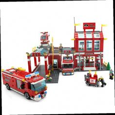 44.33$  Watch here - http://ali0ls.worldwells.pw/go.php?t=32694781298 - model building kits compatible with lego city fire center 848 3D blocks Educational model & building toys hobbies for children