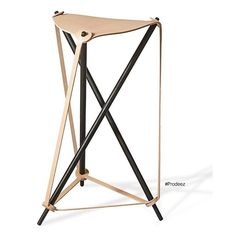 From Prodeez Product Design: Stool by Lith Lith Lundin. #furniture #stool #leather #wood #creative #design #ideas #designer #lithlithlundin #interior #interiordesign #product #productdesign #instadesign #furnituredesign #prodeez #industrialdesign #architecture #style #art