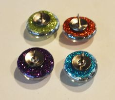 Make glitter press pins, and/or magnets..