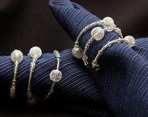 Hand Made Shiny Beaded Napkin Rings