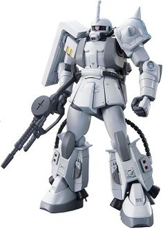 Shin Matsunaga makes his debut in the HGUC line with his signature all white Zaku.  This model features the iconic multiple leg thrusters and modified backpack.