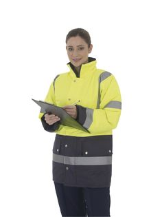 Yoko Hi-Vis 2 Band Two Tone Jacket - under £20