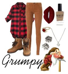 """""""Grumpy"""" by hopelessromance69 ❤ liked on Polyvore featuring Disney, AG Adriano Goldschmied, Chanel, Lime Crime, Forzieri and Lauren B. Beauty"""
