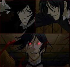 He looks happy😗 Sebastian X Ciel, Black Butler Sebastian, Black Butler 3, Black Butler Anime, Ciel Phantomhive, Black Butler Characters, Anime Characters, Otaku Anime, Anime Art