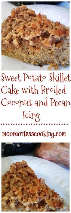 Sweet Potato Skillet Cake with Broiled Coconut and Pecan Icing, is a moist, flavorful and delectable cake with a crunchy pecan and coconut icing. I just love sweet potatoes. I eat them all year rou…