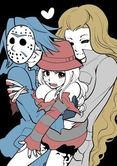 Janet), Female Michael Myers (Right; Horror Icons, Horror Art, Michael Myers, Cute Anime Character, Character Art, Art Goth, Creepypasta Cute, Horror Movie Characters, Horror Movies