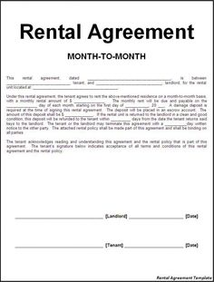 11 Best Rental Agreements Images Lease Agreement Free Printable