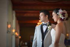 Elegant wedding in Hawaii's iconic Royal Hawaiian Hotel.