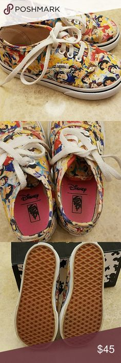 Disney Princess Vans Toddler Size 8 Gently used, very clean Disney Princess Vans, Toddler size 8, box included.  These are very hard to find (ask me how I know!).  I bought them here on Poshmark and they didn't fit my daughter. Vans Shoes Sneakers