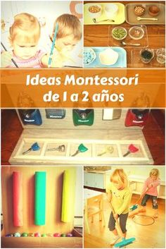 Montessori de 1 a 2 años. Actividades Montessori low cost. Kids Learning Activities, Montessori Activities, Infant Activities, School Projects, Projects For Kids, Kids Crafts, Diy Educational Toys, Chore Chart Kids, Montessori Materials