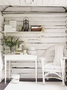 Love this painted wood panelling idea for a set sometime-- maybe just a wall, baseboard and floor, corner would be cool