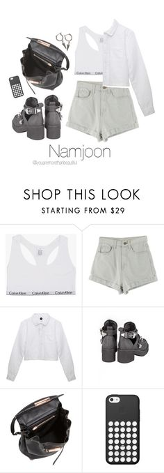 """""""BTS Inspired  [White]"""" by youaremorethanbeautiful ❤ liked on Polyvore featuring Calvin Klein, Jeffrey Campbell, Alexander Wang, Black Apple and H&M"""