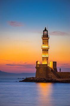 Lighthouse in Chania. Creta