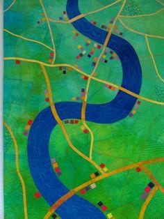 River Flow, Alicia Merrett art quilt