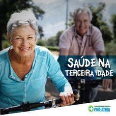 Busque uma vida saudável em todas as idades :D Faça exercícios contínuos, alimente-se bem e realize consultas regularmente :) #ProAtiva #Saúde #TerceiraIdade #Felicidade