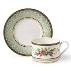 Fitz and Floyd - Winter Holiday Cup & Saucer