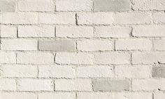 Eldorado Stone - Chalk Dust // A white veneer brick that doesn't need to be painted and has lots of character