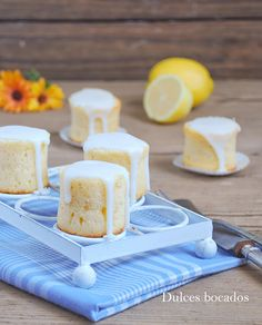 Mini lemon cake - Bizcochitos de limon