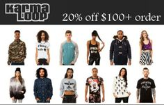 20% off $100+ order at Karmaloop with coupon code until January 31