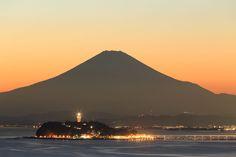 江の島(Enoshima) 富士山と江の島【絶景NIPPON】 #江ノ島 #富士山 #MtFuji